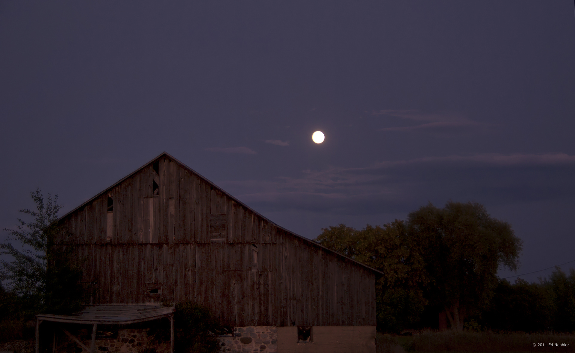 Harvest Moon Over Barn – Through My Eyes And Lens