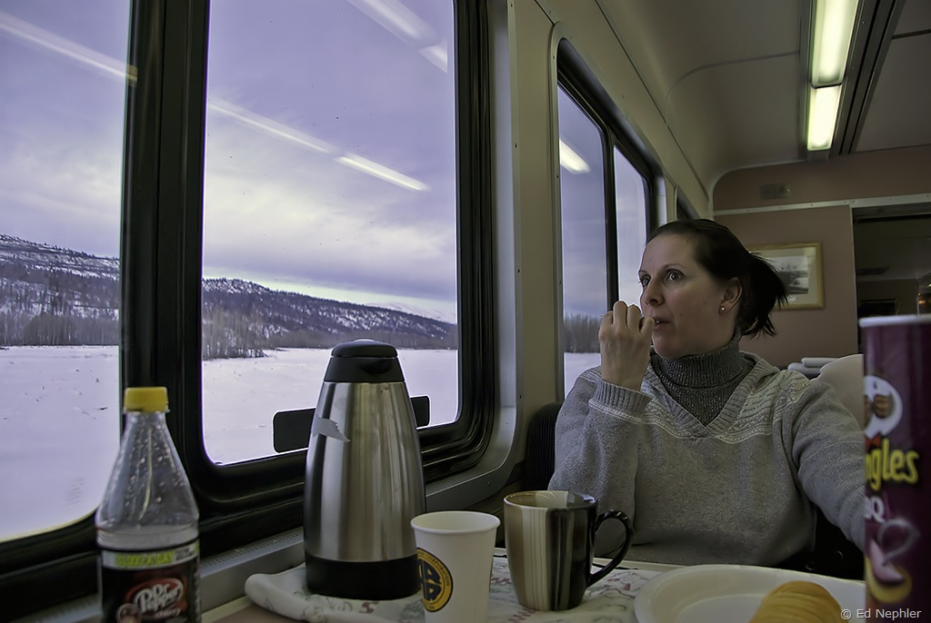 Jan enjoying the views and a Pringle 010710.1024